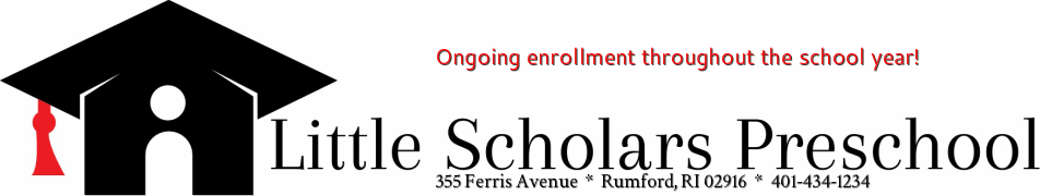 Little Scholars Preschool is a preschool and daycare located in Rumford, Rhode Island. We service families with children 3 - 5 years old living in Rumford, East Providence, Pawtucket, Seekonk and Rehoboth. We provide a safe, nurturing and loving environme